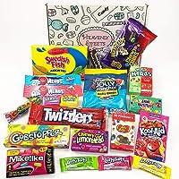 Caja de dulces vegetarianos americanos | Golosinas y barra de caramelos de selección en caja regalo