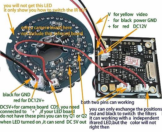 amazon com 2 1mm lens wide angle mini spy board camera pinhole amazon com 2 1mm lens wide angle mini spy board camera pinhole camera 1000tvl cmos ir cut cctv security hidden bonus power supply camera