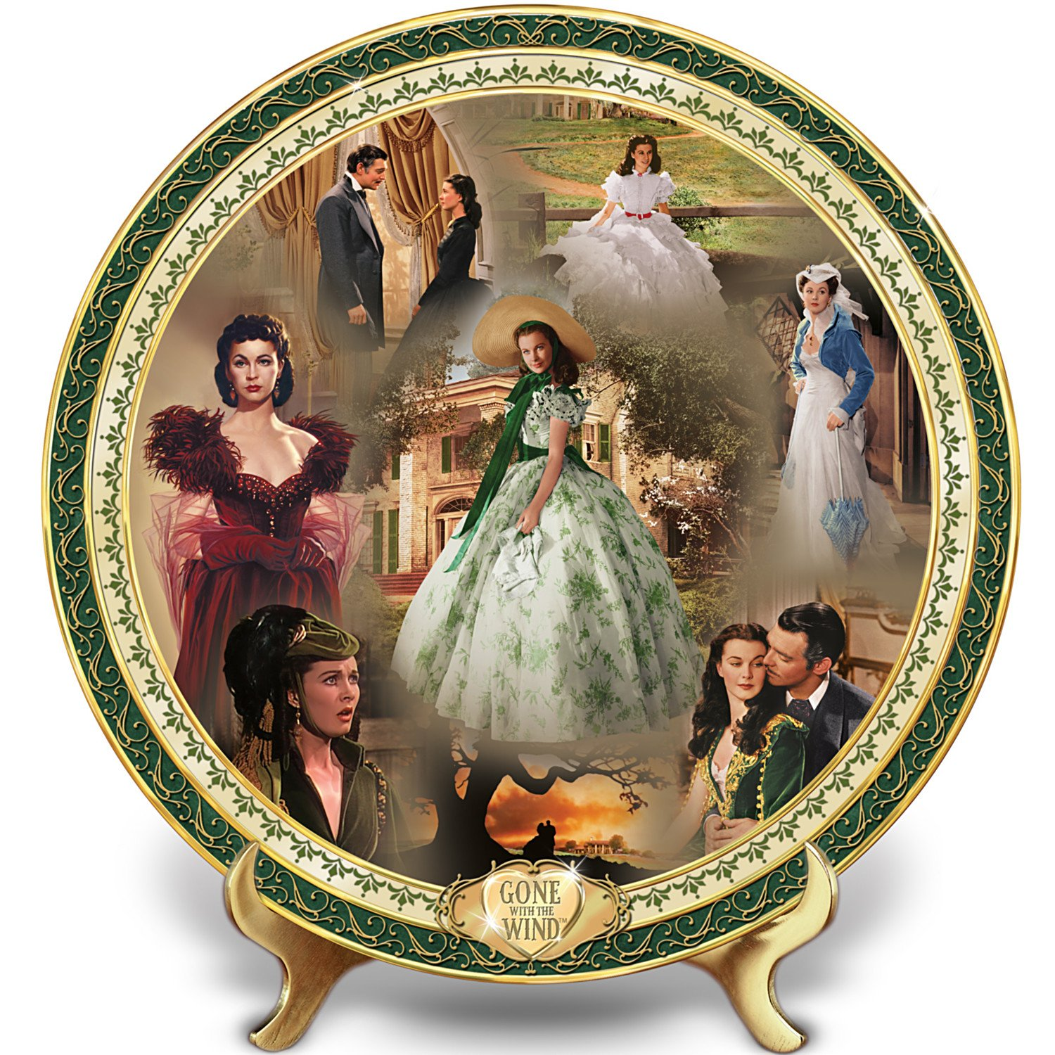 Gone With The Wind 75th Anniversary Porcelain Masterpiece Plateby The Bradford Exchange