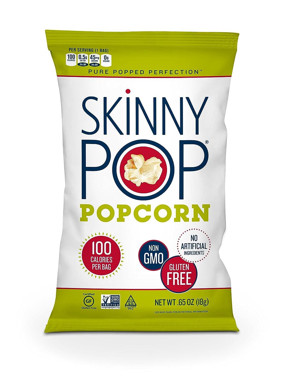Amazon.com: SKINNYPOP Original Popped Popcorn, 100 Calorie Bags, Individual  Bags, Gluten Free Popcorn, Non-GMO, No Artificial Ingredients, ...