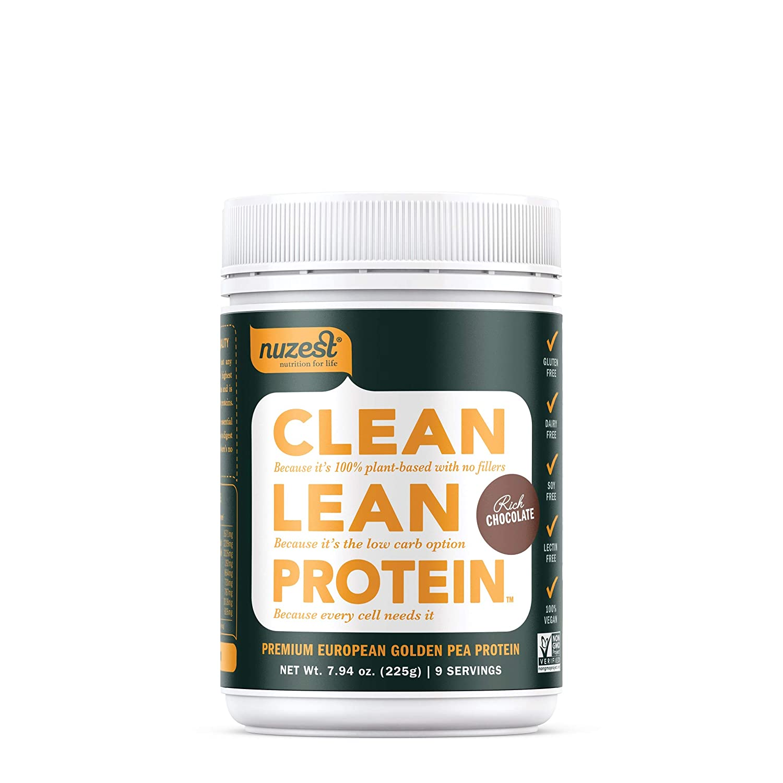 Nuzest Clean Lean Protein – Premium Vegan Protein Powder, Plant Protein Powder, European Golden Pea Protein, Dairy Free, Gluten Free, GMO Free, Naturally Sweetened, Rich Chocolate, 9 Servings, 7.9 oz