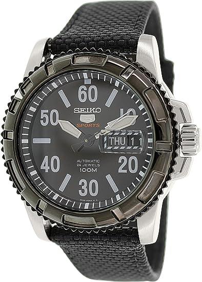 Seiko Watches SRP219 - Reloj de Pulsera Hombre, Nailon, Color Negro: Amazon.es: Relojes