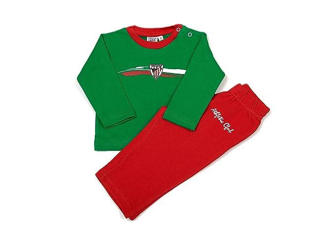 ATHLETIC CLUB BILBAO - Pijama, Color Verde Y Rojo, Talla 6 Meses
