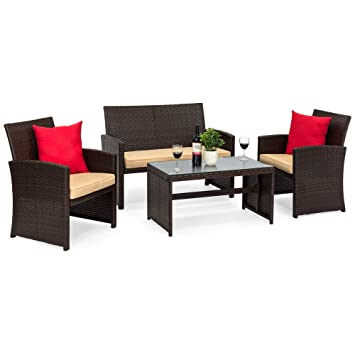 Amazoncom Best Choice Products 4 Piece Wicker Patio Furniture Set - Why-wicker-patio-furniture-is-the-best-choice-for-your-outdoor-needs