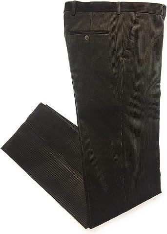 Flexus Colore Verde Pantalone Velluto Classico con Pence Duca VISCONTI di MODRONE Art