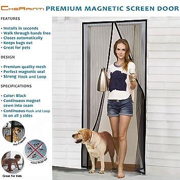Magnetic screen door hands free mesh curtain with full frame hook magnetic screen door hands free mesh curtain with full frame hook loop and push planetlyrics Choice Image