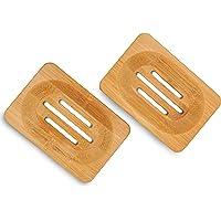 Ecowood Set de 2 Jaboneras de Bambu