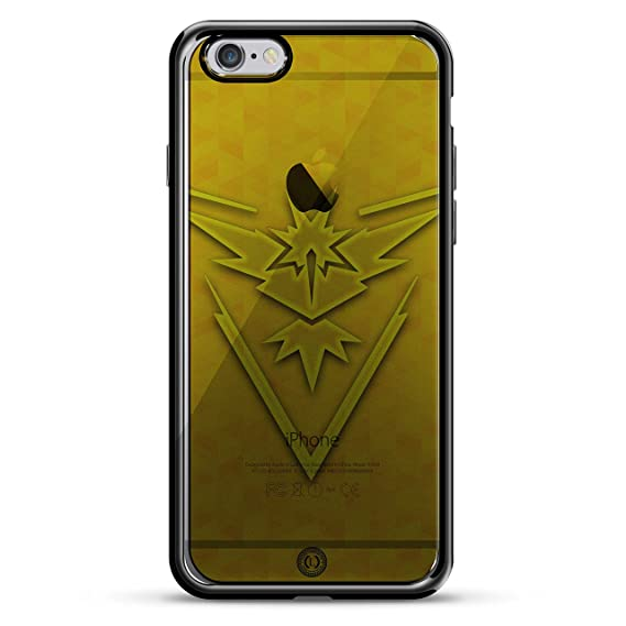 7079ceaa3f7 Image Unavailable. Image not available for. Color: Pokemon GO Inspired  Instinct Yellow Design Chrome Series CASE in Titanium Black for iPhone 6/