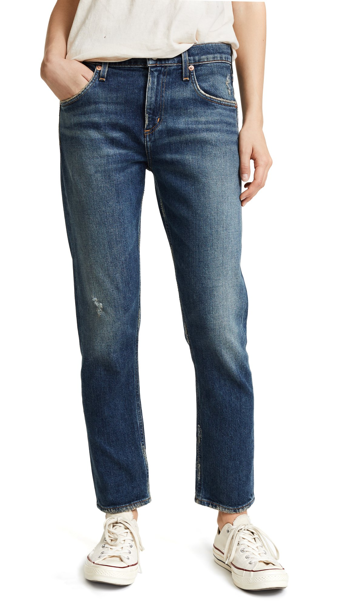 AGOLDE Women's The Isabel Mid Rise Slim Straight Jeans, Sanctuary, 25