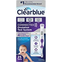 Clearblue Connected Ovulation Test System Featuring Bluetooth connectivity and Advanced Ovulation Tests with Digital Results, 25 Ovulation Tests