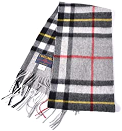 Tweedmill Tartan Scarf: Grey Thompson