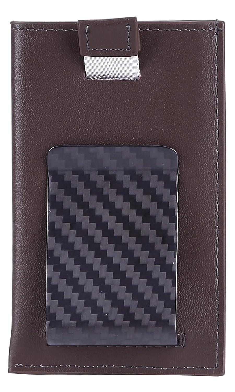Card Case Kinzd Carbon Fiber Money Clip Wallet Secure RFID Blocking