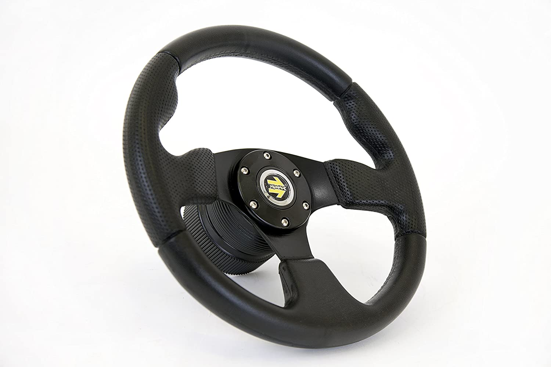 Sportlenkrad Smudger 320mm schwarz//silber