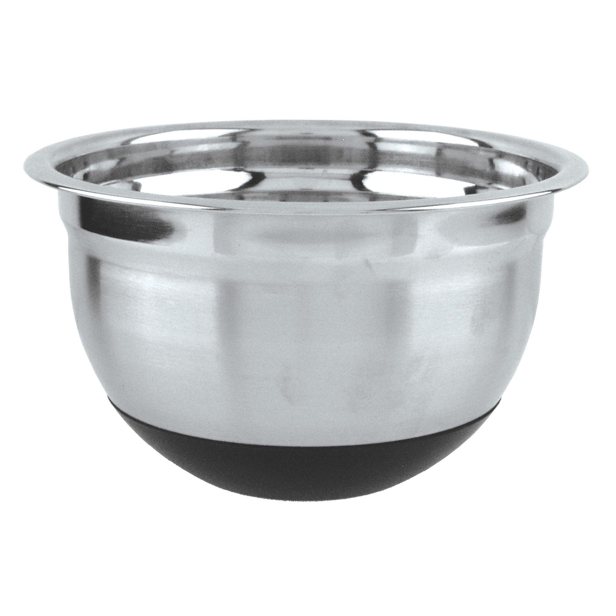 Fox Run 36427 Non-Skid Mixing Bowl, Stainless Steel, 5-Quart