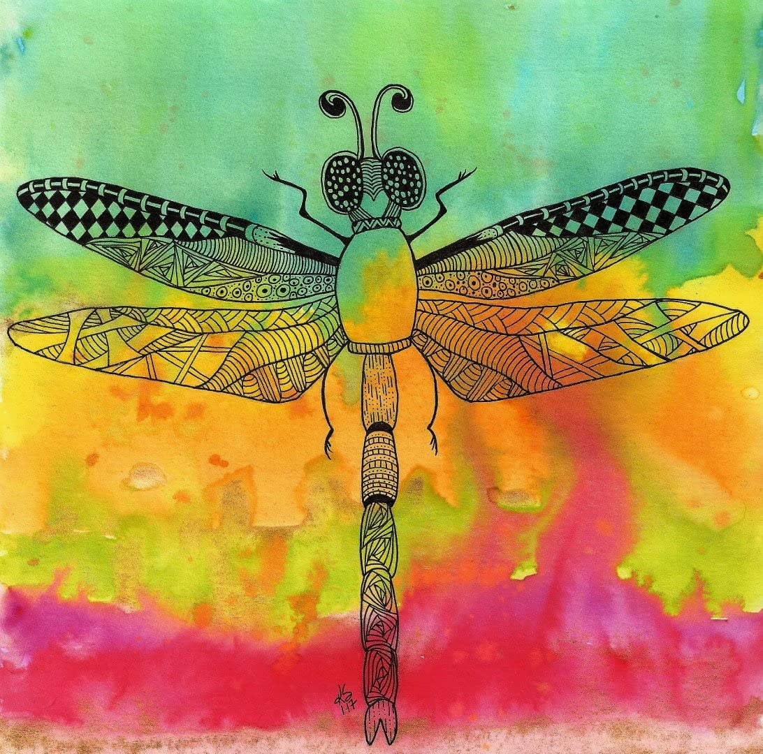 Ink Dragonfly Greeting CardsNotecards with Envelopes