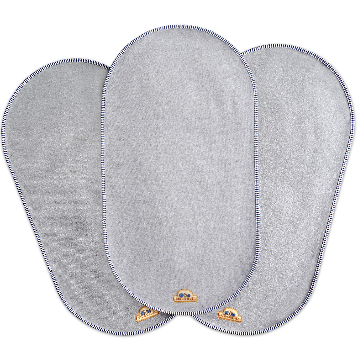 BlueSnail Waterproof Changing Pad Liners 3 Count (14''X26.5'', Gray) Bassinet Pad Liner by BlueSnail