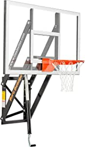Goalsetter Adjustable Glass Backboard Wall Mounted Basketball Goal - Multiple Size and Rim Options Available