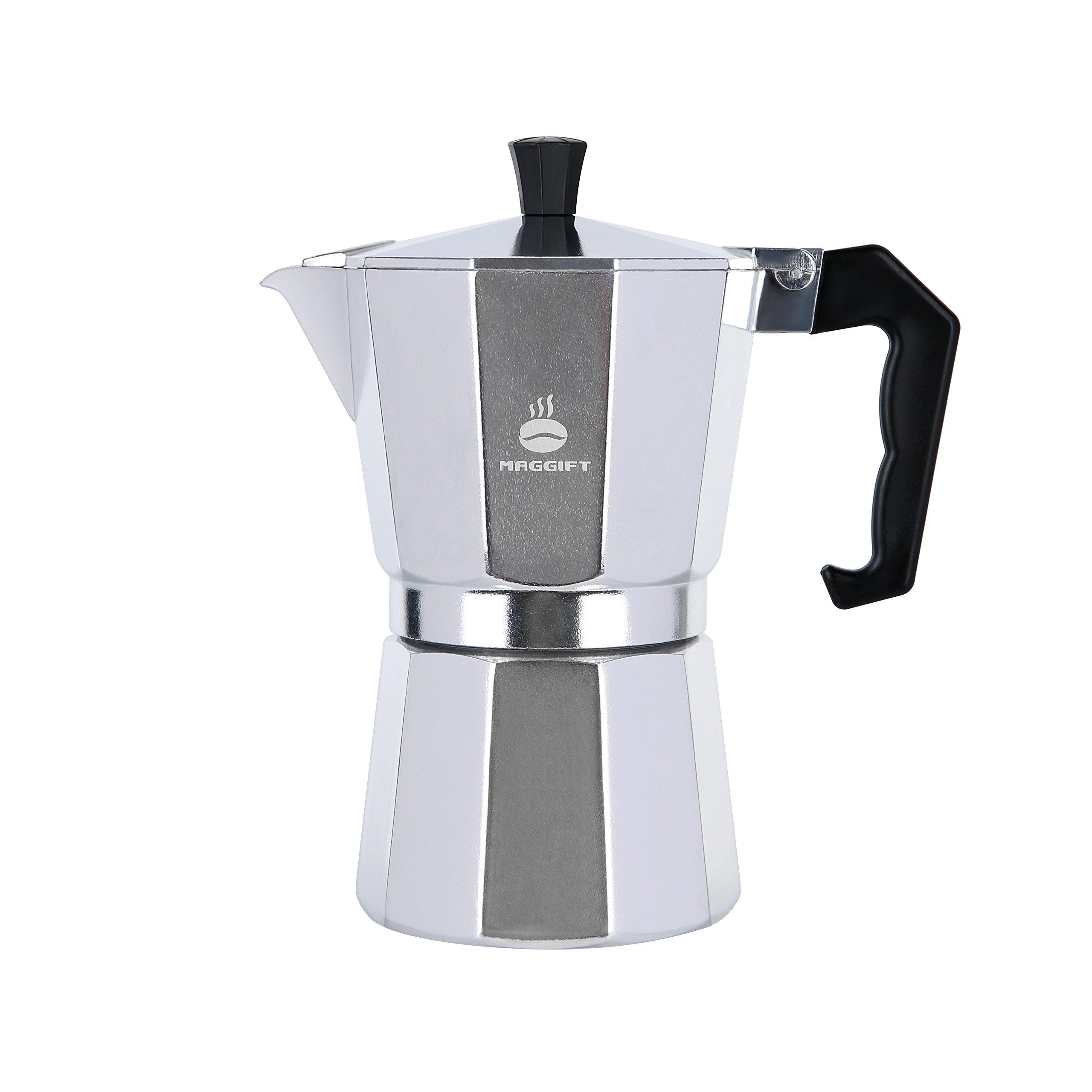 Maggift Stovetop Coffee Maker, Aluminum Italian Moka Pot (6 Cup) by Maggift (Image #2)