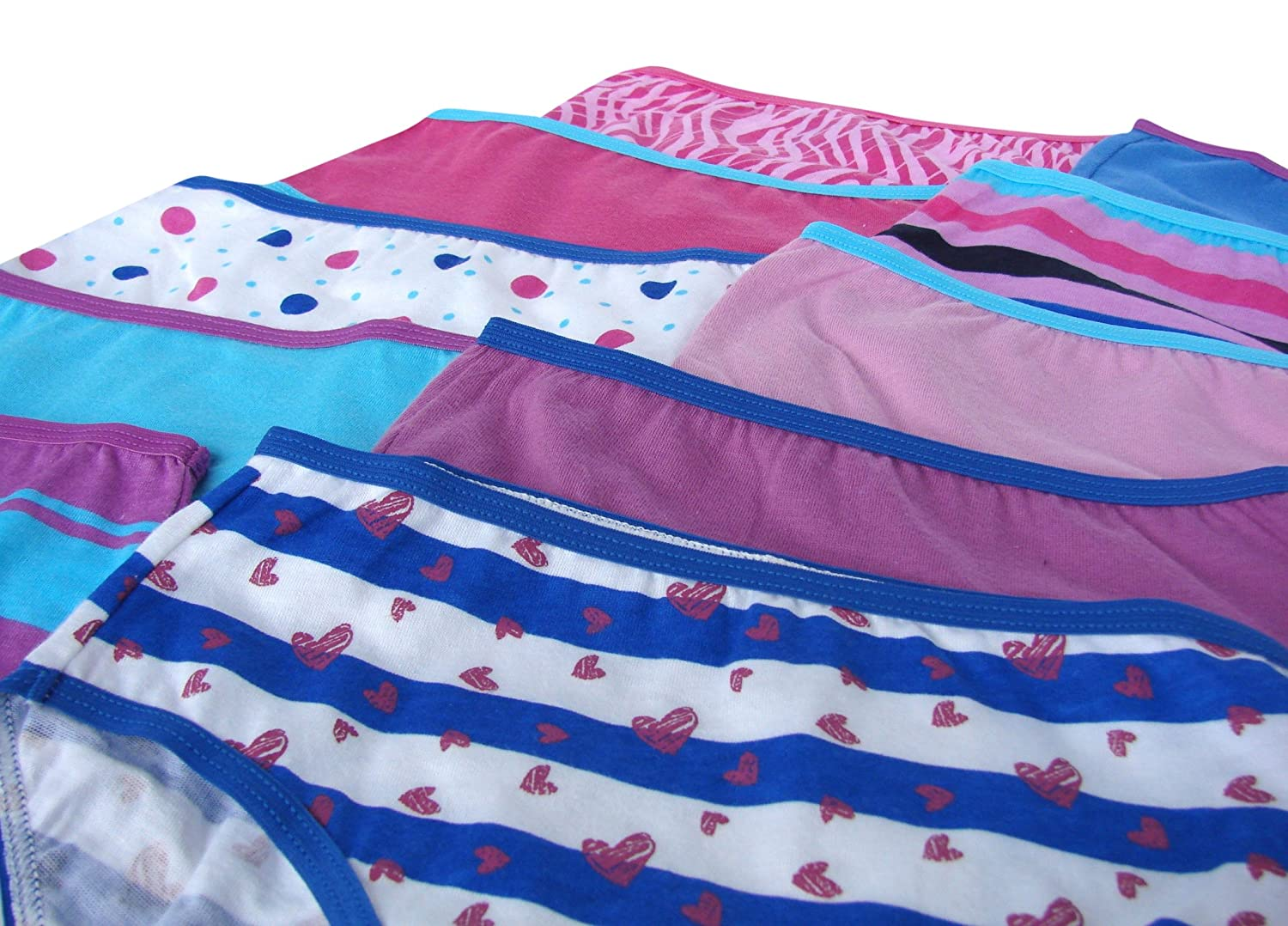 Trimfit Girls 100/% Cotton Colorful Briefs Panties Pack of 10