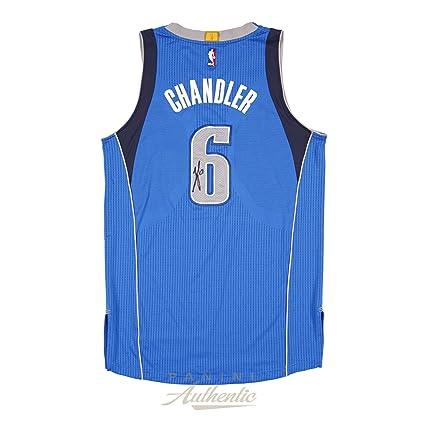 Tyson Chandler Autographed Game Worn Dallas Mavericks Royal Jersey ... d1c0716dd