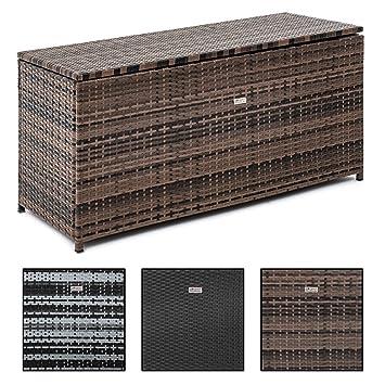 Beliebt ESTEXO Rattan Auflagenbox Box Polyrattan Gartenbox Kissenbox SD93