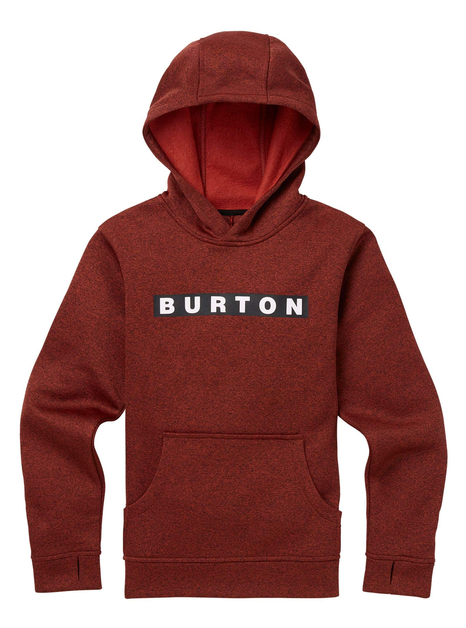 Burton Boys' Oak Pullover Hoodie, Bitters Heather, X-Large