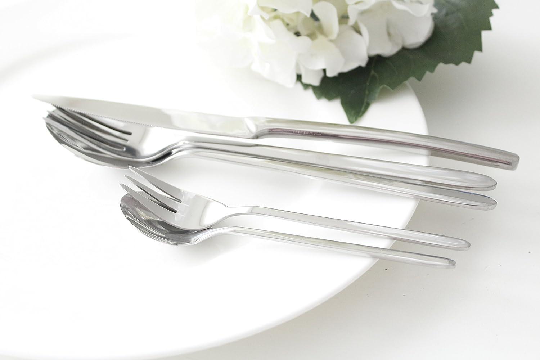 Mulex Pasadena Besteckset 60tlg 22 x 4 x 2 cm Edelstahl 18//0 Nickelfrei Silber