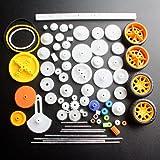 DIKAVS 78 kinds of gear package toy car accessories motor various gear axle belt bushings