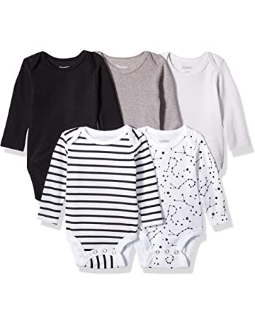 a93d2959b42a3 Hanes Ultimate Baby Flexy 5 Pack Long Sleeve Bodysuits
