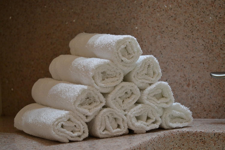 "Egyptian Towels 100% Cotton SALON Towels 16"" x 27"", 12pk, White"