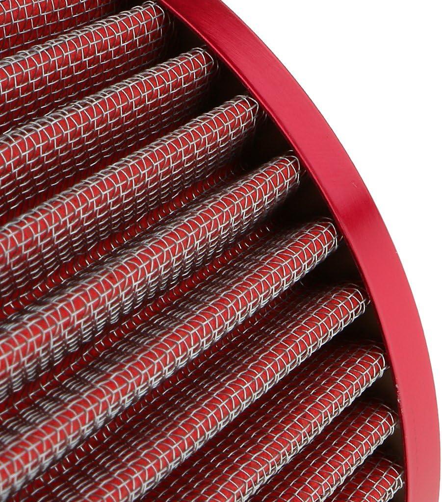 Rojo 3 Pulgadas Kit de Admisi/ón de Aire Fr/ío Universal C/ónico Redondo non-brand Filtro de Aire para Coche