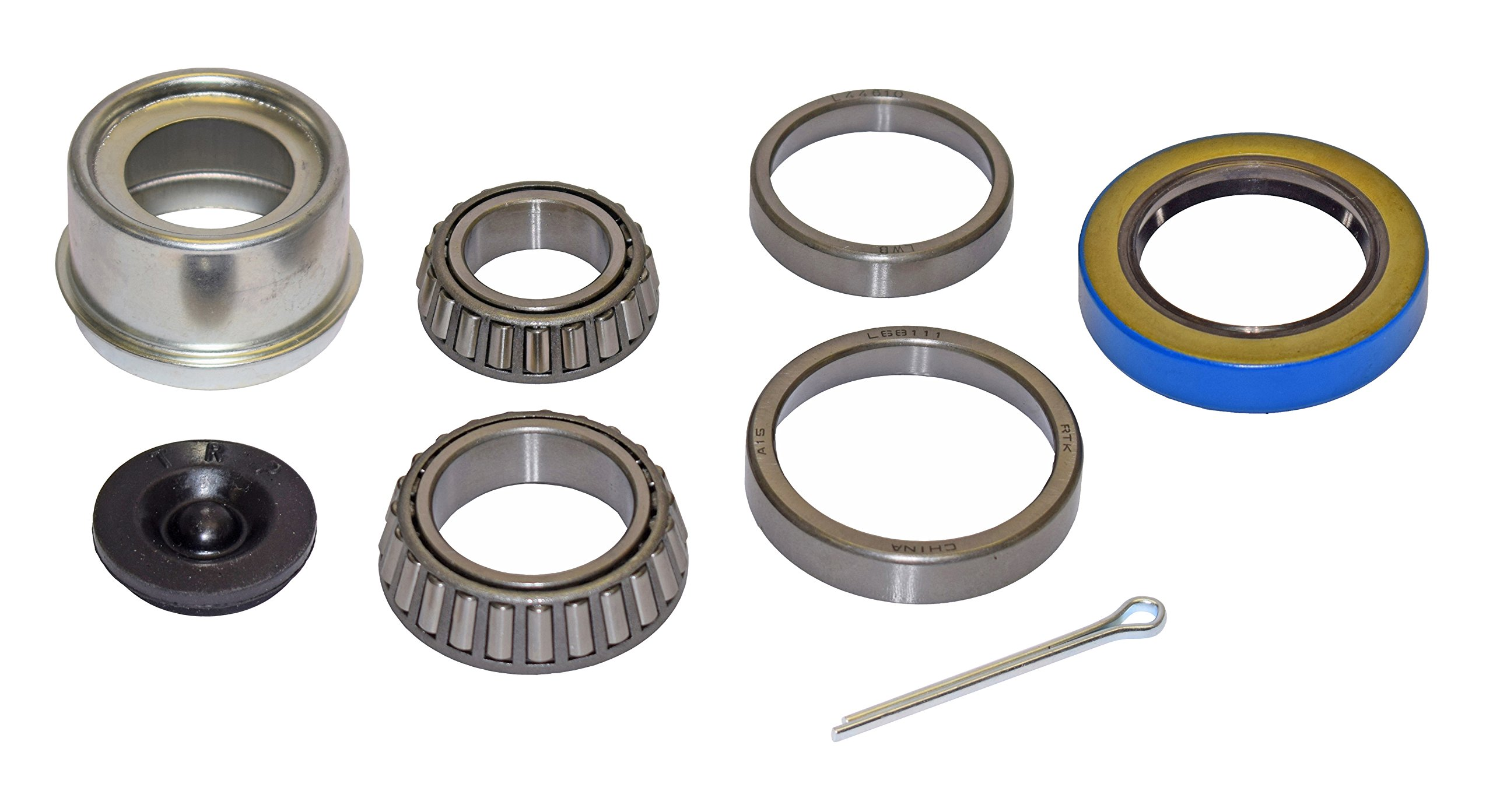 Rigid Hitch Trailer Bearing Repair Kit (280455-EZ) For 1-3/8 To 1-1/16 Inch Tapered Spindle - Includes E-Z Lube Cap With Plug