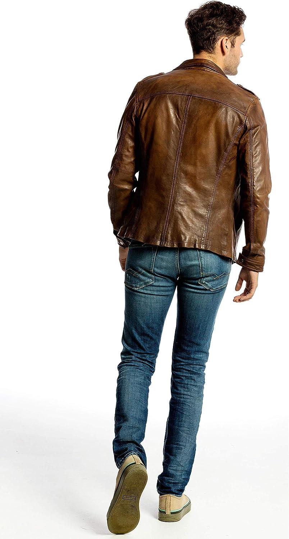 Urban Leather Luka Blouson Homme Marron (Ontorio Brown 003)
