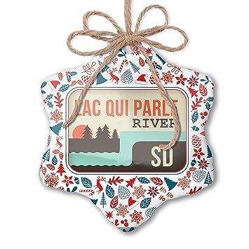 Amazon.com: NEONBLOND Christmas Ornament USA Rivers Lac qui ...