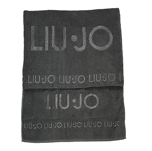 Liu Jo home Set Asciugamano Viso più Asciugamano ospite Valzer con Logo  Ricamato Made in Italy d93016375a7