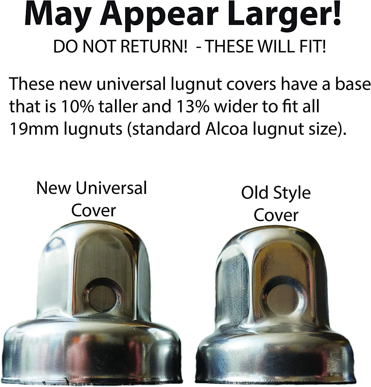 Hide a Lug 2015 Through 2006 Winnebago 19mm Roadtrek NOT for 2016+ Stainless Steel Lug Nut Covers 000135 Pleasure Way HiSpec /& Older Alcoa 000120 5 Pieces