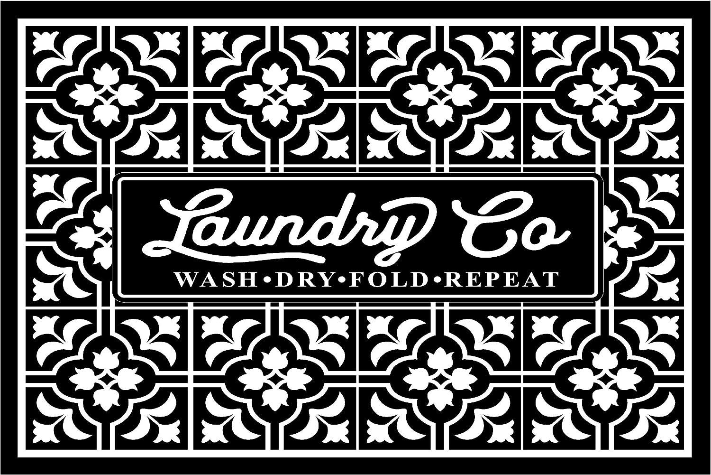 "PhotoSteel Deco Tile Laundry Co - Home Decor Laundry Room Sign : 24"" x 16"""