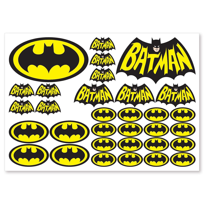Batman stickers 32 printed vinyl batman stickers car van motorbike skateboard amazon co uk car motorbike