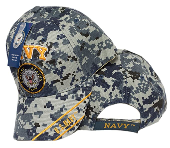 ea793033120 Image Unavailable. Image not available for. Color  NAVY 3D embroidered    Navy Emblem Cap Camo 100% acrylic baseball cap. Official US