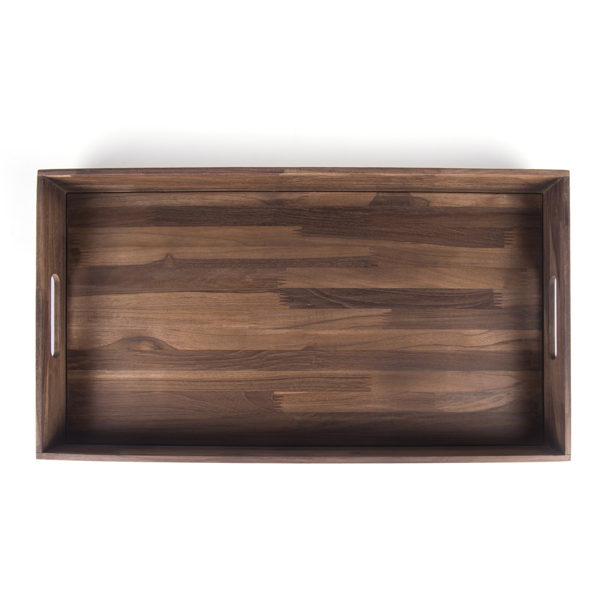 Glitz Star Square Ottoman Tray Teak Wood Serving Tray, Extra Large(24 x 13 inch)
