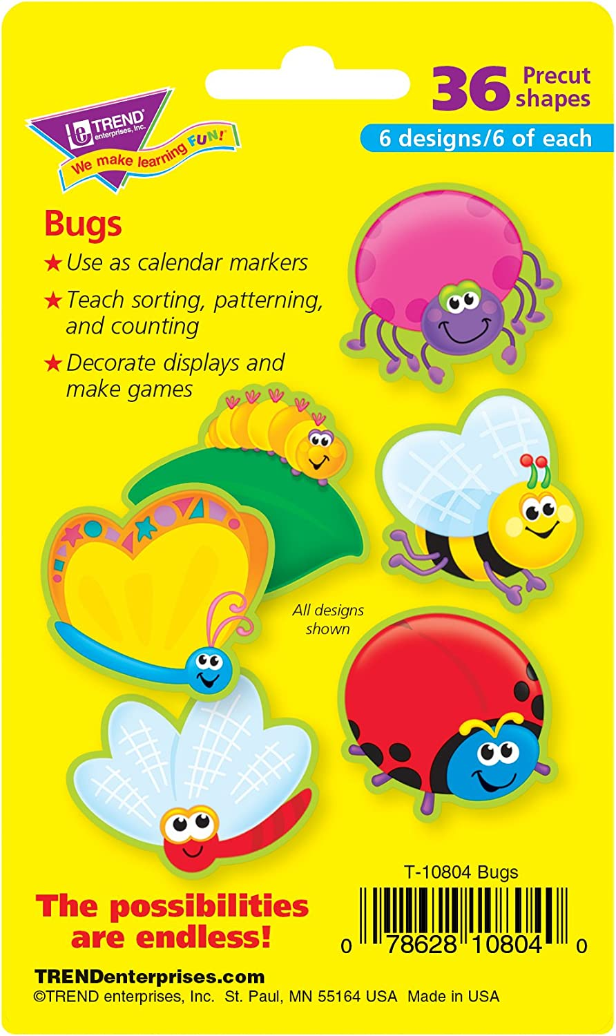 Trend Enterprises Inc Bugs Mini Accents Variety Pack 36 Ct Themed Classroom Displays And Decoration Office Products Amazon Com