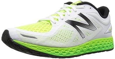 New Balance Men's MZANTEV2 Running Shoe, White/Toxic, ...