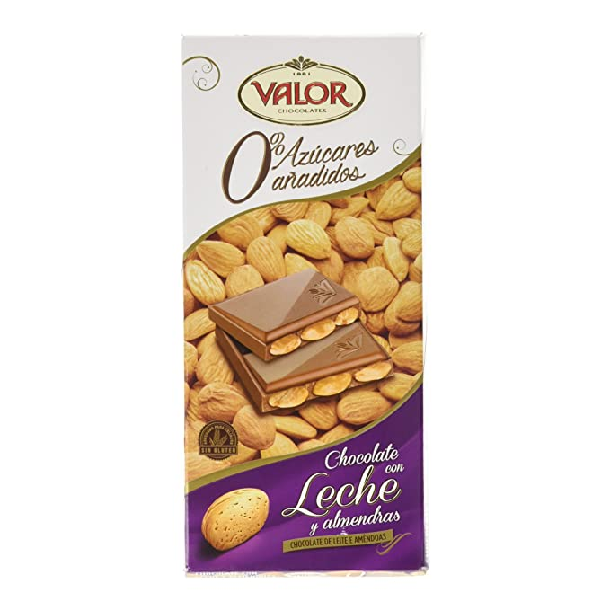 Chocolates Valor - Chocolate con leche y almendras - 150 g