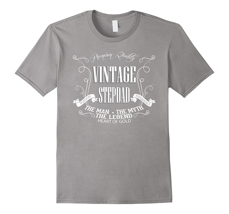 Best step dad shirt vintage stepdad the man myth legend-BN