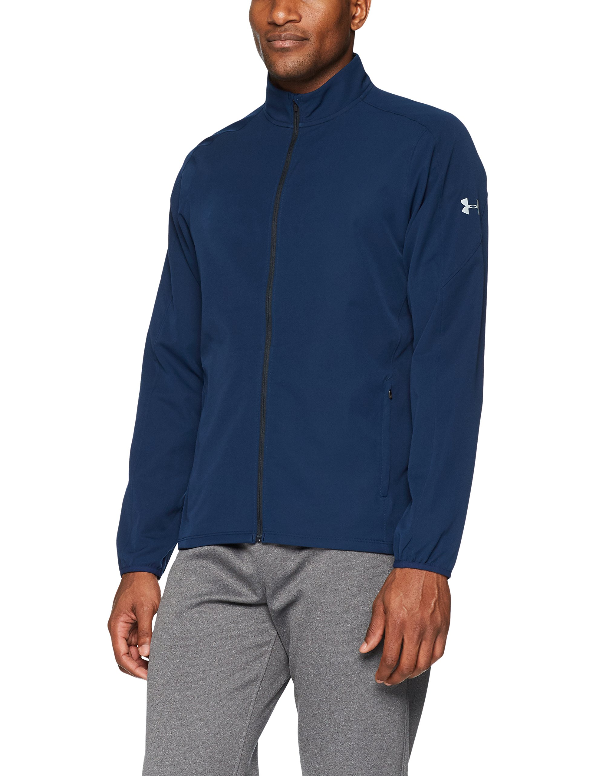 Under Armour Men's Storm Out & Back Jacket, Academy (408)/Reflective, Small