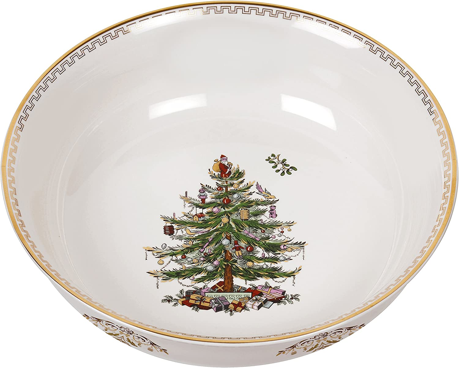 Spode Christmas Tree Bowl Large Gold Kitchen Dining