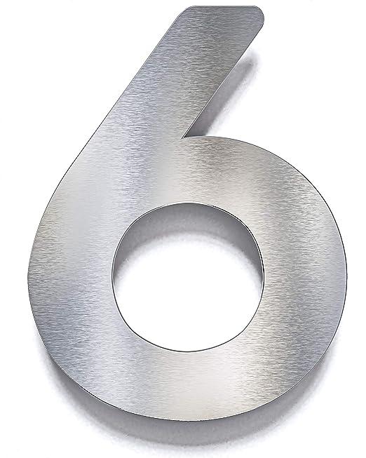 Número de la casa de acero inoxidable - con material de ...