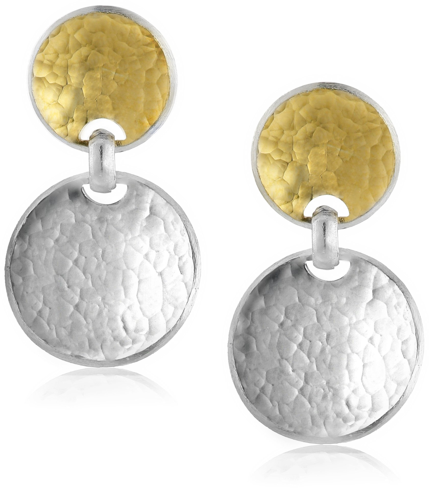GURHAN ''Hourglass'' Sterling Silver Double Drop Earrings