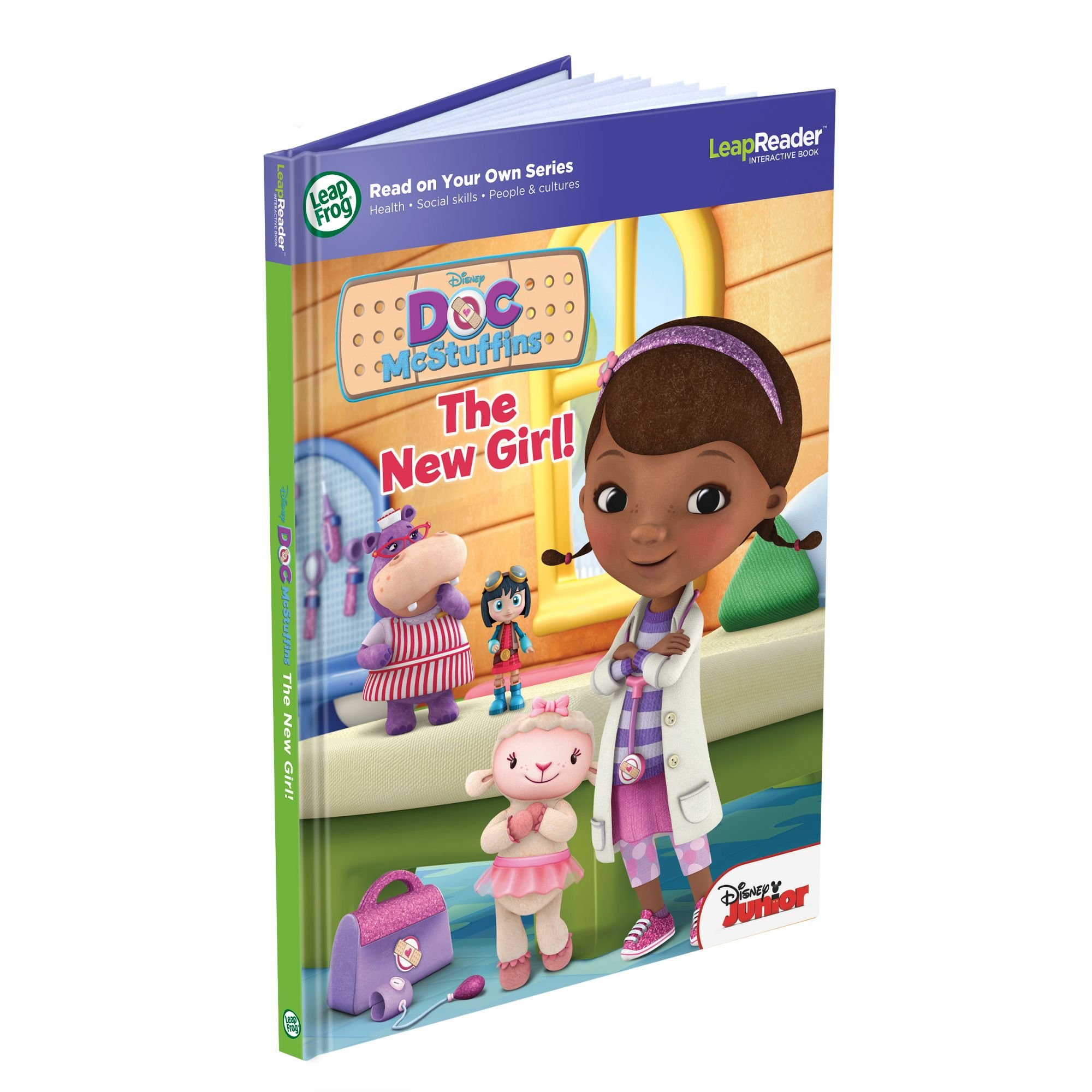 LeapFrog LeapReader: Disney Doc McStuffins: The New Girl Read On Your Own Book works with Tag