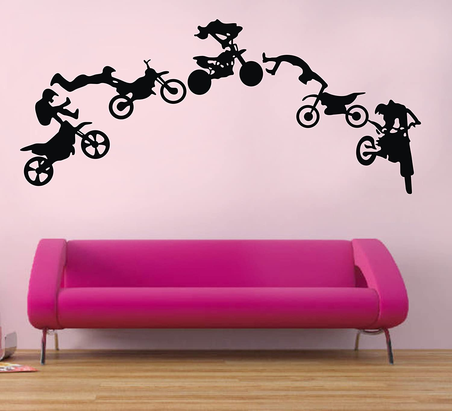 Amazon motocross wall decals motocross graphic extreme sport amazon motocross wall decals motocross graphic extreme sport silhouette removable wall art diy vinyl wall sticker baby amipublicfo Gallery